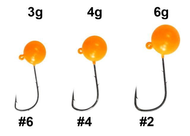 вес джиг головки для микроджига